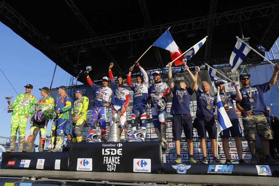 Podium Trophy - FIM ISDE 2017 Brive