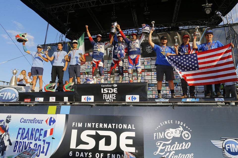 Podium Junior - FIM ISDE 2017 Brive