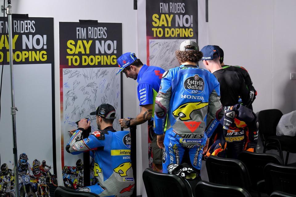 THOMAS LUTHI SWI  EG 0,0 Marc VDS  HONDA MotoGP  GP Qatar 2018 (Circuit Losail) 16-18.3.2018   PSP/ Lukasz Swiderek  www.photoPSP.com  Anti-doping Briefing riders MotoGP - Doha (QAT)