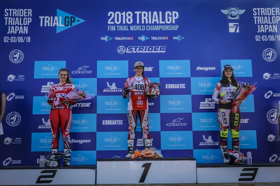 FIM TRIAL 2018 Motegi Podium