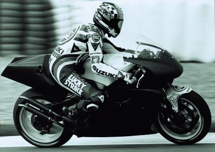 1995 Road Racing test Schwantz Kevin USA Suzuki prototype circuit of Jerez Spain