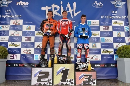World Cup Podium FIM TRIAL 2015 Teo