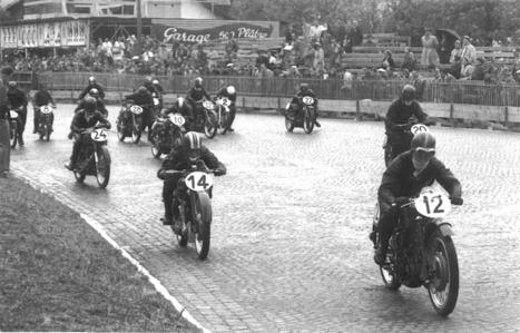 1951 GP250 Swiss Grand Prix Berne start