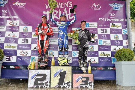 Podium FIM WOMEN'S TRIAL 2015 Teo