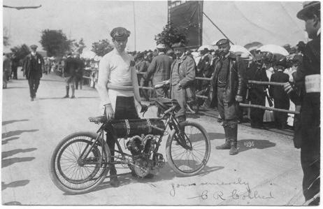 1906 International Cup Race Charlie Collier UK Matchless Patzau AUT-HUN