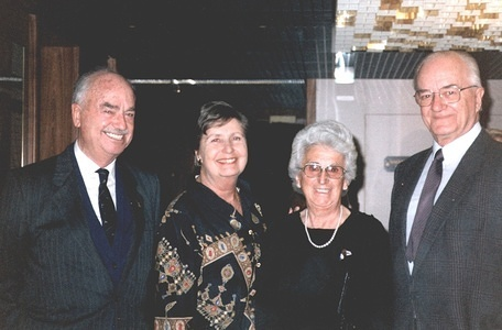1983 FIM President Nicolas Rodil del Valle (left) SPA FIM Vice-President Gérard Ladame (right) SUI