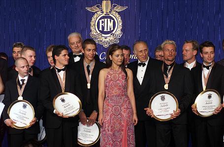 1999 FIM Prize-Giving Ceremony Muti Ornella Zerbi Francesco Riders World Champions Monaco