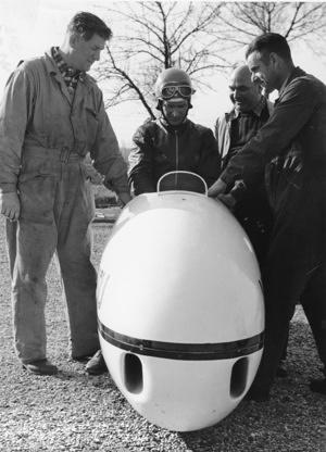 1951 World Record Short Distance 1 mile flying start 500cc Herz Wilhelm GER NSU 20s1 288 km/h