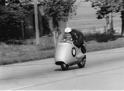 1955 World Record Long Distance 10 km Zeller Walter GER BMW 500cc 2m34s 233 km/h