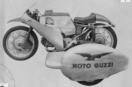 1955 World Record B1/B2 350cc Long distance and Period records Anderson Fergus Lomas Bill Moto Guzzi 100 miles 1h01m35s 157 km/h