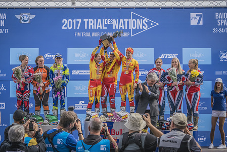 PODIUM - FIM WOMEN'S TRIAL DES NATIONS 2017 Baiona