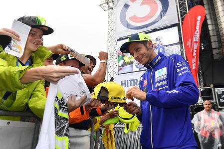 Valentino Rossi (ITA) Movistar Yamaha MotoGP Yamaha MotoGP  GP Austria 2018 (Circuit RedBull Ring) 10-12.08.2018 PSP / Mateusz Jagielski www.photoPSP.com We, The Riders launch and autograph session in Spielberg MotoGP (AUT)