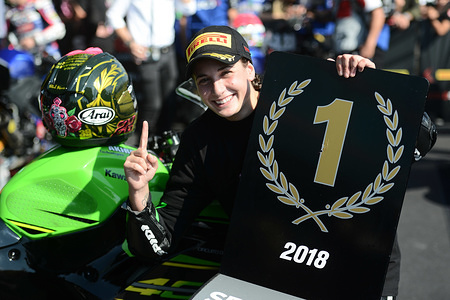 Ana Carrasco (SPA) DS Junior Team Kawasaki Supersport 300  WSBK France 2018 (Circuit Magny Cours) 28-30.09.2018 PSP / Mateusz Jagielski www.photoPSP.com 2018 FIM Superbike & Supersport World Championships - Magny-Cours (France), 29-30 September