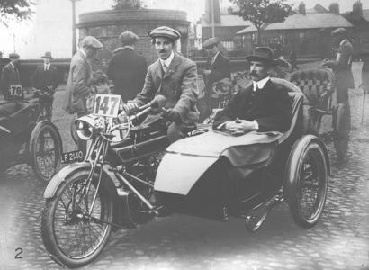 1913_ISDT_1st International Six Days' Trial_Carlisle Lake District_UK_Charles Collier_UK_Matchless 964 Sidecar_Member of the British team winner