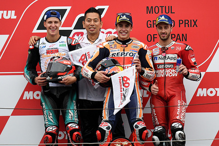 FABIO QUARTARARO FRA / MARC MARQUEZ SPA / ANDREA DOVIZIOSO ITA