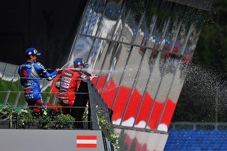JOAN MIR SPA / ANDREA DOVIZIOSO ITA / JACK MILLER AUS  Podium MotoGP   GP Austria 2020 (Circuit Red Bull Ring) 14-16.8.2020 photo: Lukasz Swiderek www.photoPSP.com @photopsp_lukasz_swiderek