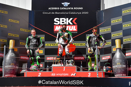 Andrea Locatelli (ITA) Lucas Mahias (FRA) Philipp Oettl (GER) Supersport  WSBK Catalunya 2020 (Circuit Catalunya Barcelona) 18-20.09.2020 photo: Mateusz Jagielski / PSP www.photoPSP.com @mj_photogp